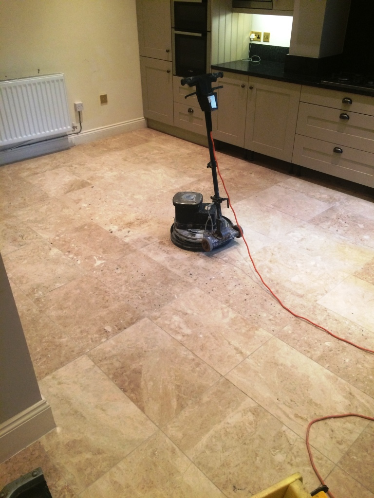Marble Floor Before Cleaning and Polishing Melton Mowbray