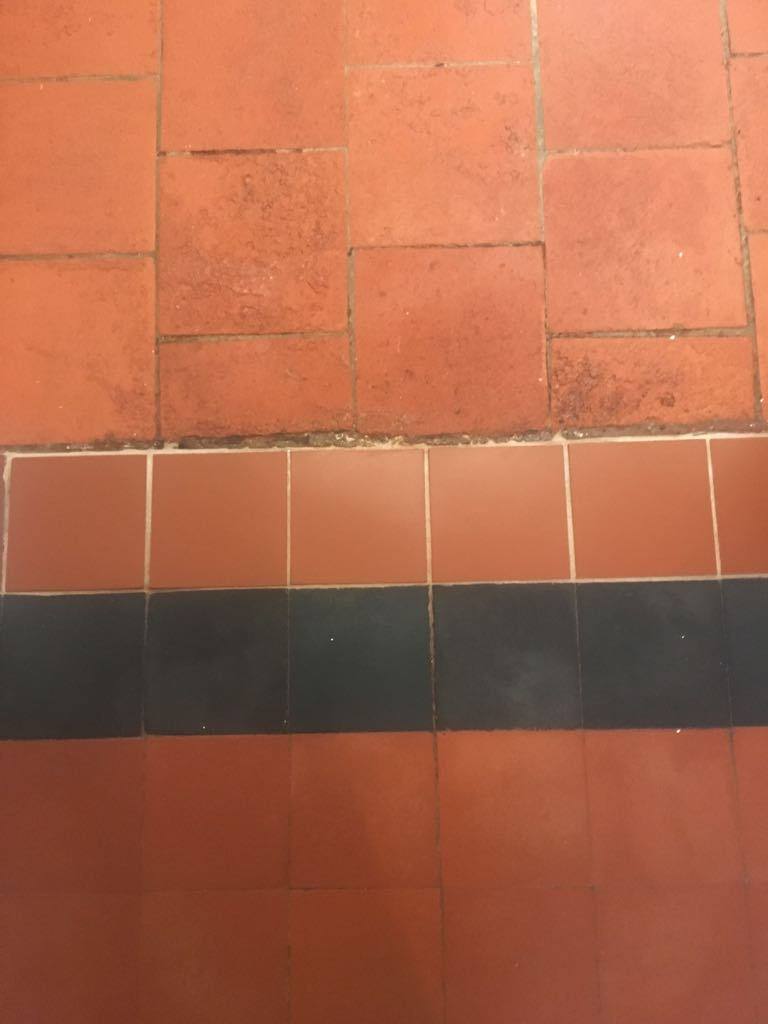Quarry Tiled Floor After Restoration Market Harbourough