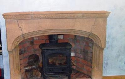 Stone Fireplace After Restoration