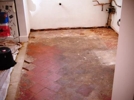 Terracotta Floor in Leicester Before