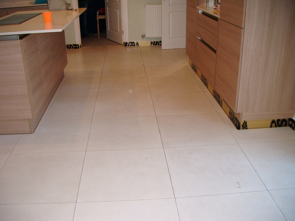Limestone Tiled Floor Before