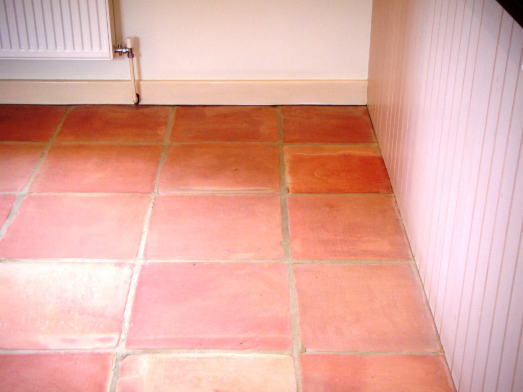 Terracotta Tile Cleaining in Market Harborough After Cleaning and Sealing