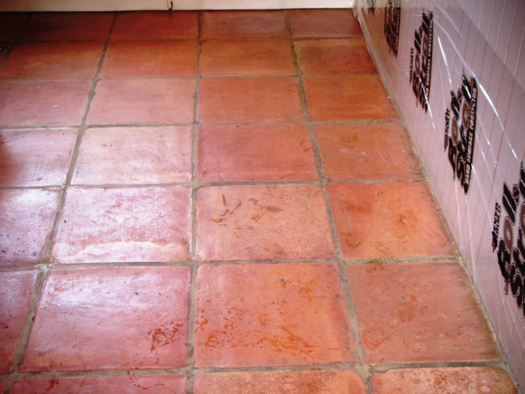 Terracotta Tile Cleaining in Market Harborough Before Cleaning