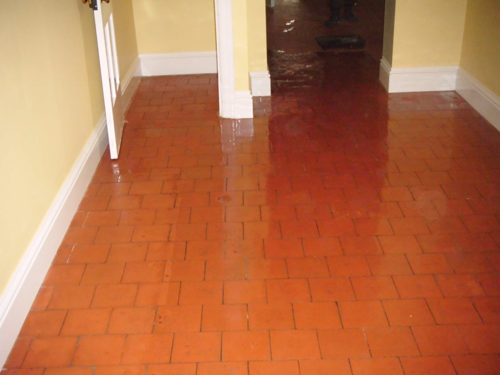 Quarry Tiles Deep Cleaned in Market Harborough After