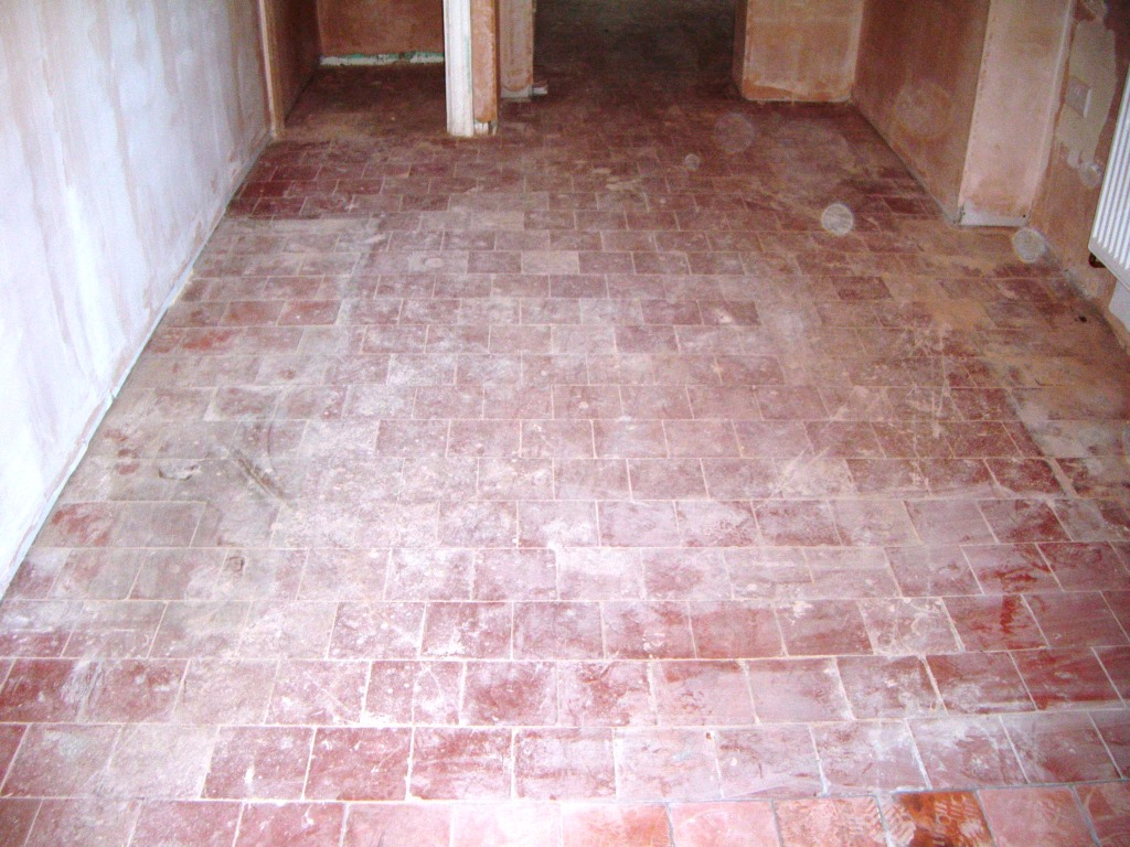 Quarry Tiles Deep Cleaned in Market Harborough Before