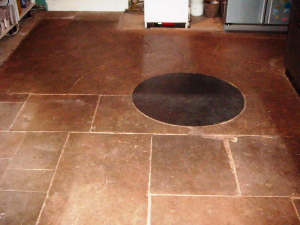 Sandstone Tiled Kitchen Uppingham Before