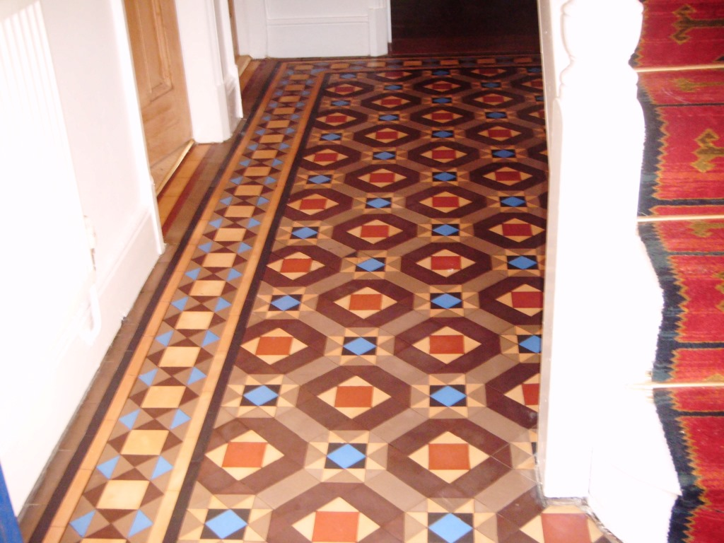 Victorian Tiled Floor Melton Mowbray After Cleaning