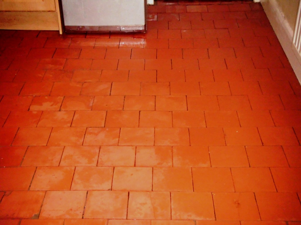 Efflorescence removed from old Quarry tiles in Leicester