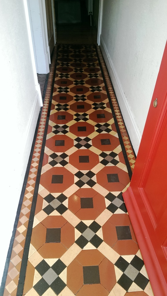 Victorian Tiled Hallway After Cleaning in Coalvile