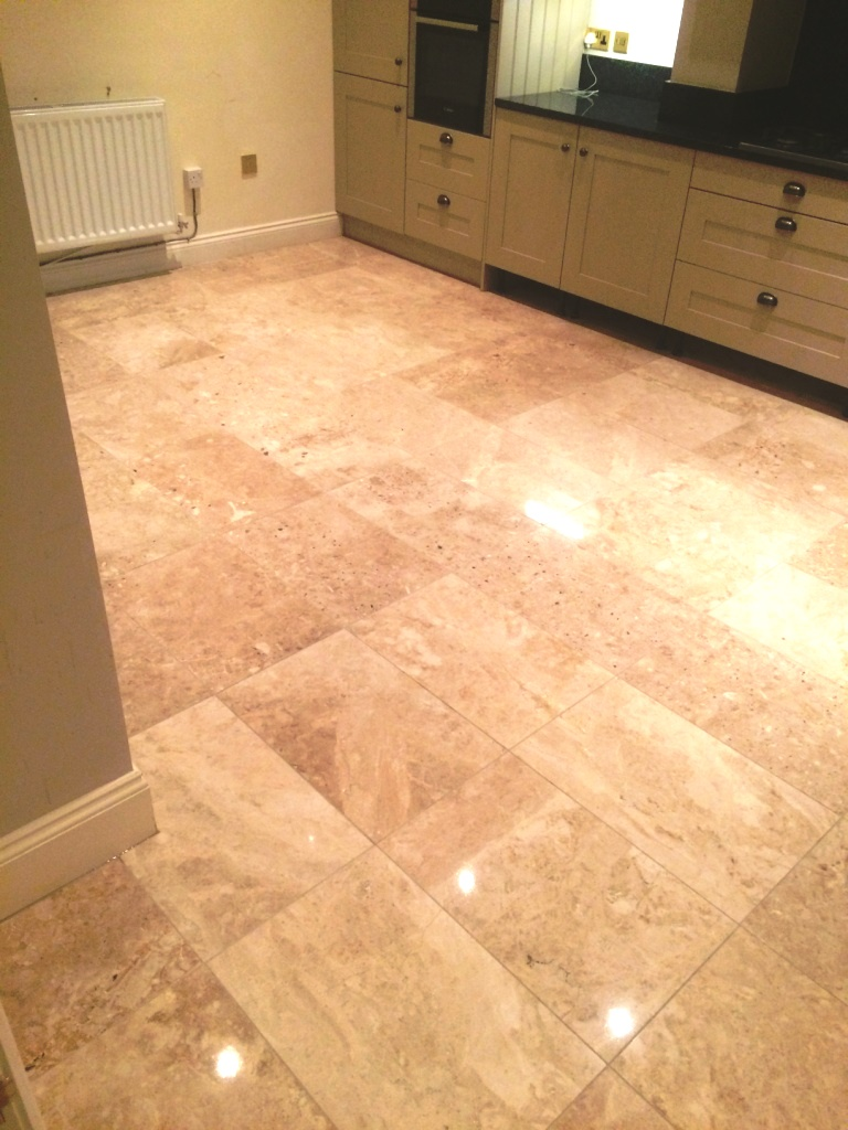 Marble Floor After Cleaning and Polishing Melton Mowbray