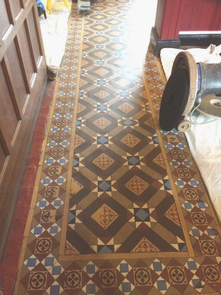 Leicestershire tile doctor your local tile stone and grout victorian tiled public house floor before cleaning in hinckley dailygadgetfo Images