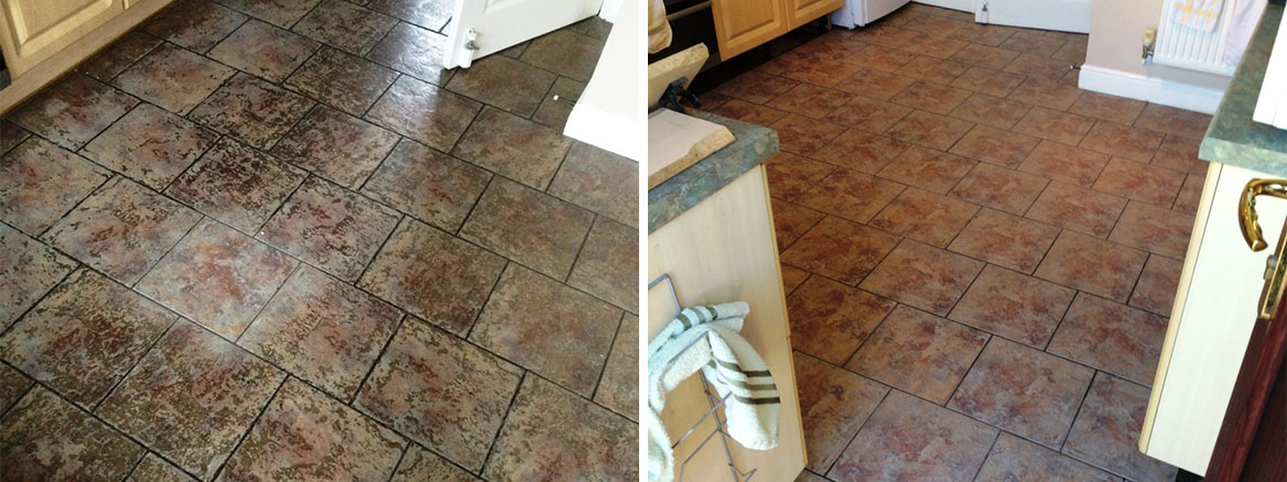 Heavily-Soiled-Ceramic-tiled-kitchen-floor-before-after-cleaning-Blaby