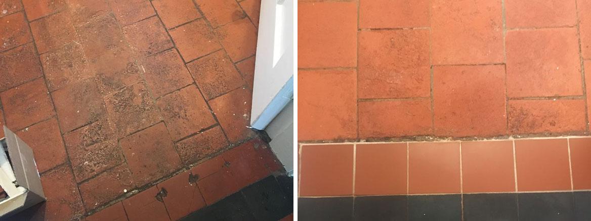 Quarry-Tiled-Floor-Before-After-Restoration-Market-Harbourough