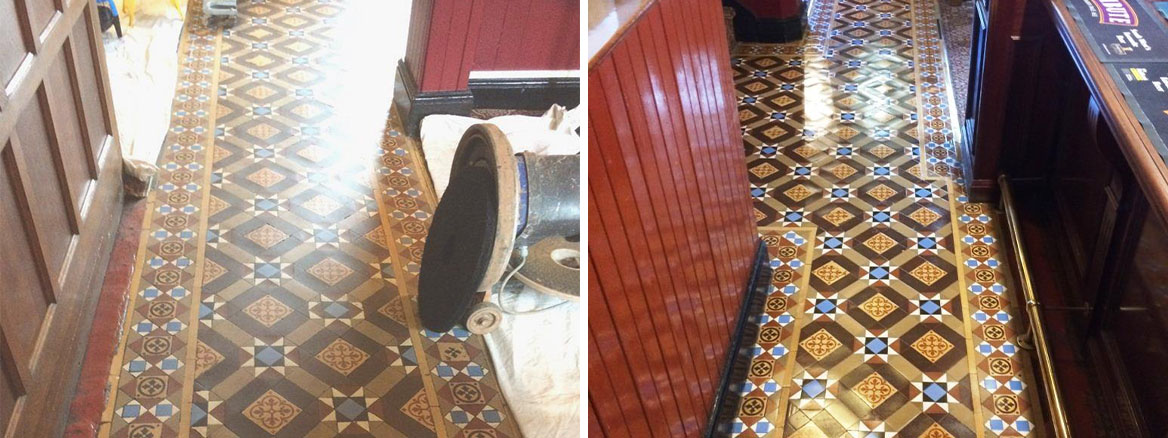 Victorian-Tiled-Public-House-Floor-Before-After-Cleaning-in-Hinckley
